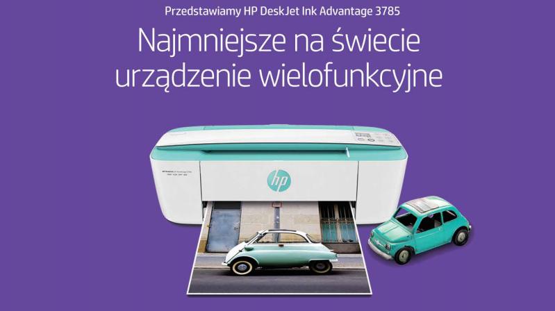 Poznaj nowe urządzenie wielofunkcyjne HP Deskjet Ink Advantage 3785 T8W46C